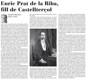 Enric Prat de la Riba, fill de Castellterçol
