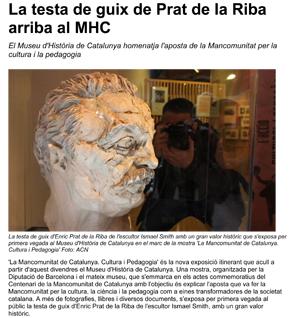 La testa de guix de Prat de la Riba arriba al MHC