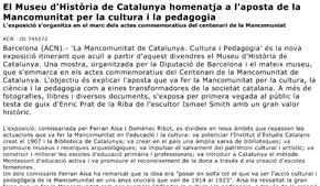 El Museu d'Història de Catalunya homenatja a l'aposta de la Mancomunitat per la cultura i la pedagogia