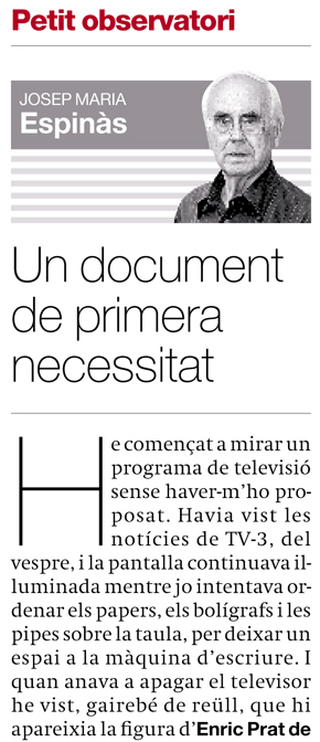Un document de primera necessitat