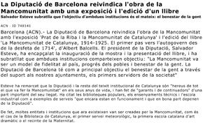 La Diputació de Barcelona reivindica l'obra de la Mancomunitat amb una exposició i l'edició d'un llibre