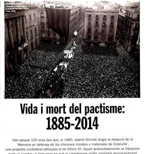 Vida i mort del pactisme: 1885 - 2014