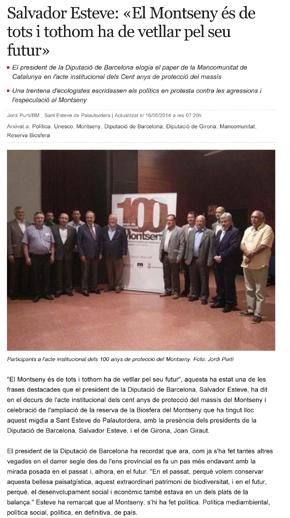 Salvador Esteve: «El Montseny és de tots i tothom ha de vetllar pel seu futur»