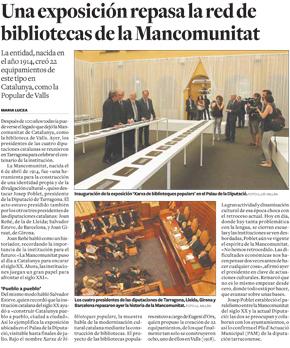 Una exposición repasa la red de bibliotecas de la Mancomunitat