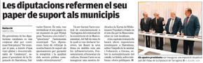 Les diputacions refermen el seu paper de suport als municipis