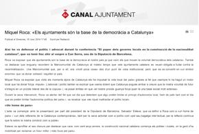 Miquel Roca: «Els ajuntaments són la base de la democràcia a Catalunya»