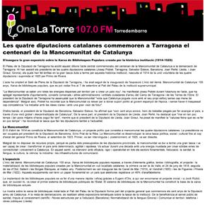 Les quatre diputacions catalanes commemoren a Tarragona el centenari de la Mancomunitat de Catalunya