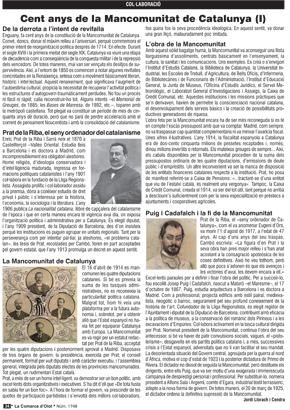 Cent anys de la Mancomunitat de Catalunya (I)