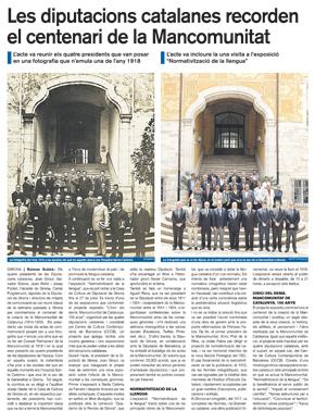 Les diputacions catalanes recorden el centenari de la Mancomunitat