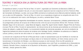 Teatro y música en la sepultura de Prat de la Riba