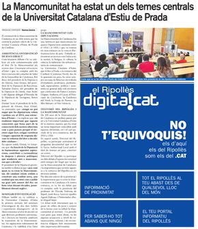 La Mancomunitat ha estat un dels temes centrals de la Universitat Catalana d'Estiu de Prada
