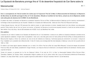 La Diputació de Barcelona prorroga fins el 13 de desembre l'exposició de Can Serra sobre la Mancomunitat