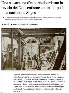 Una seixantena d'experts abordaran la revisió del Noucentisme en un simposi internacional a Sitges